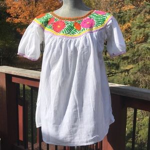 Tops - EUC embroidered t-shirt from Mexico.